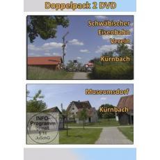 Doppelpack 2 DVD - SEV Schwäbischer Eisenbahnverein Kürnbach  + Museumsdorf Kürnbach