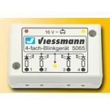 Viessmann 5065 4-fach-Blinkelektronik für Andreaskreuz