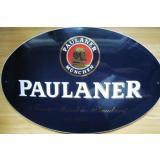 Emailschild Paulaner Oval ca. 52cm x 33cm