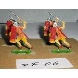 ZF06 Zinnfiguren Römische Legionäre bemalt Set mit 4 Stück