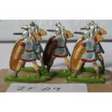 ZF09 Zinnfiguren Römische Legionäre bemalt Set mit 5 Stück