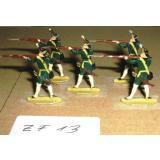 ZF13 Zinnfiguren Infanterie  bemalt Set mit 5 Stück