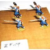 ZF19 Zinnfiguren Infanterie bemalt Set mit 4 Stück